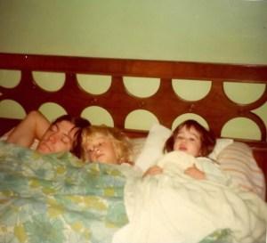 kate me dad 1977 or so bed